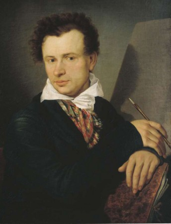Ivan Bugayevsky-Blagodarny (1773–1859), Russian painter, draughtsman, illustrator. Studied under Stepan Schukin at the Imperial Academy of Arts and at the private school of Vladimir Borovikovsky in St Petersburg. Painted portraits and drew satirical caricatures. Academician of portraiture.