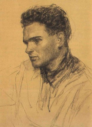 Vasily Nechitailo (1915–1980), Russian Socialist Realist painter, graphic artist, teacher. Husband of artist Maria Savchenkova. Studied under Nikolai Sharikov and Mikhail Ruzheinikov at the Krasnodar Technical College of Art and under Sergei Gerasimov at the Moscow Institute of Fine Arts. Fought in the Second World War. Member of the Union of Artists. Taught painting at the Vasily Surikov Institute of Art in Moscow. People's Artist of the RSFSR. Lived and worked in the Kuban and Don regions.