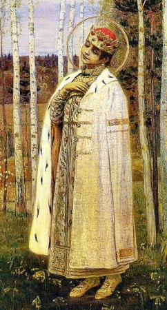 St Dmitry the Murdered Tsarevich, son of Ivan the Terrible and Maria Nagaya, painted by Mikhail Nesterov 1899