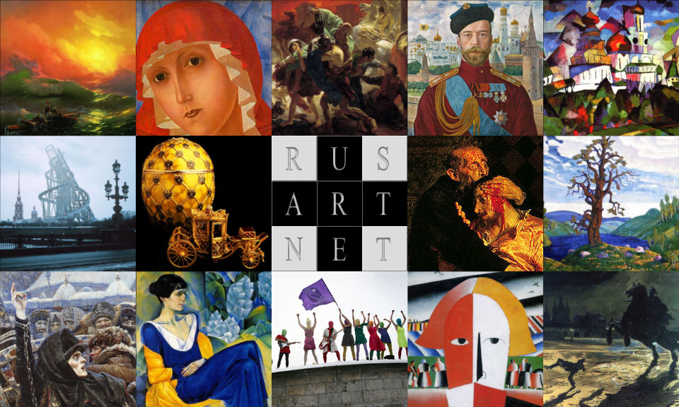 Collage of Russian artwork